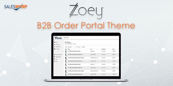 zoey B2B order portal theme