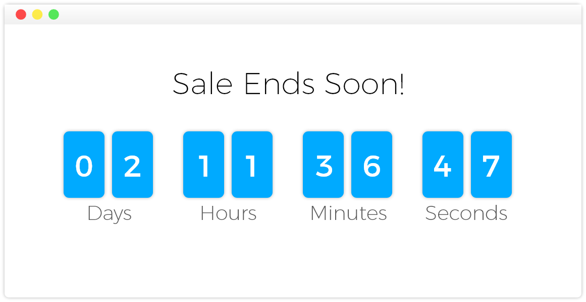 ecommerce strategies - countdown graphic